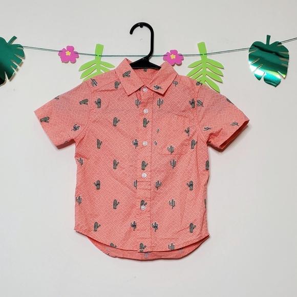 Children's Place Cactus Boys Button Down Shirt